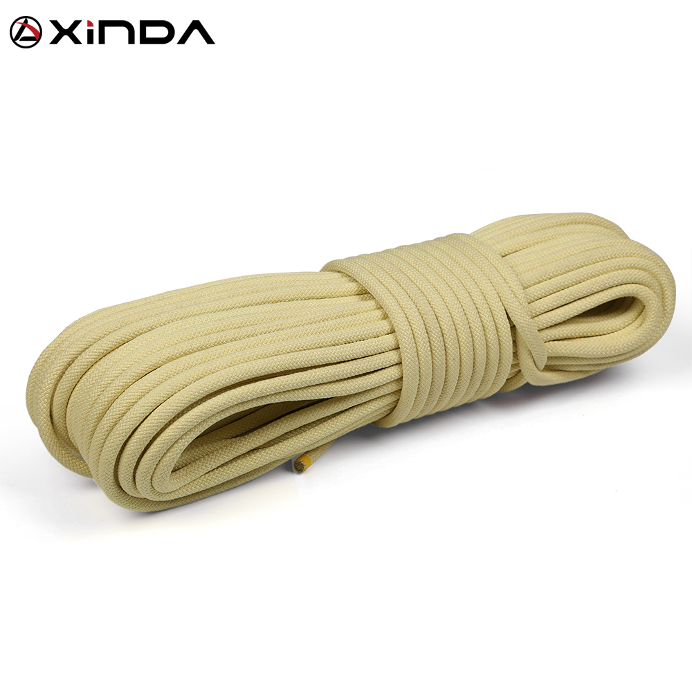 XINDA Escalada 10M Paracord Rock Climbing Outdoor Hiking Safety Rope 8mm Diameter 1900 High Strength Cord Camping Equipment xinda 10m professional rock climbing rope 10 5mm diameter 25kn high strength downhill survival safety climbing