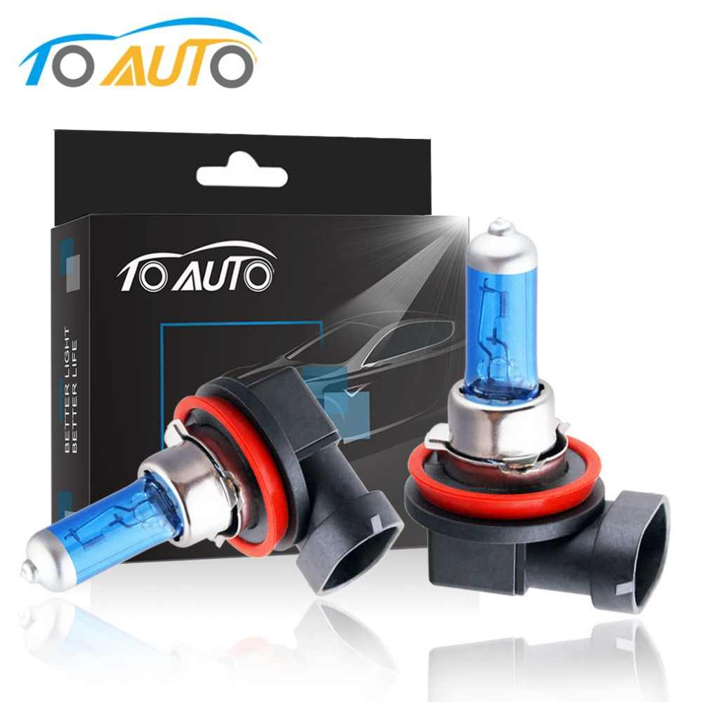 2PCS H8 35W Halogen Bulb White Quartz Glass Car Fog Light Daytime Running Lights DRL Auto Lamp Automobiles 12V 5000K