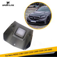 W205 Car Front Hoods Covers Auto Engines Hood for Benz C Class W205 C180 C200 C250 C300 C350 C43 AMG C63 AMG 15 19 Carbon Fiber