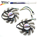 YTTL Computer Cooler Fan 75MM FirstD FD7010H12S DC 12V 4Wire For ASUS XFX MSI R6790 GTX770 HD 7870 7950 Twin Frozr II Video Card