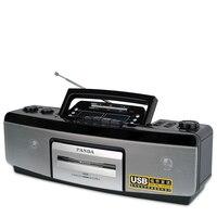 פנדה 6618 חזרה מקליט קלטת מכונה הוראת לימודי אנגלית מכונת רדיו דיסק U נגן קלטת