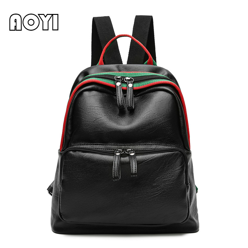 Women Backpack High Quality PU Leather Mochila Escolar School Bags Teenagers Girls Zipper Backpacks Fashion Preppy Style Ba 2017 new fashion backpacks men travel backpack women school bags for teenagers girls pu leather preppy style backpack