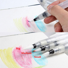 Water Piston Writing Watercolor Brush Traditional Chinese Japanese Calligraphy Drawing Pen Beginner 12cm free Shipping