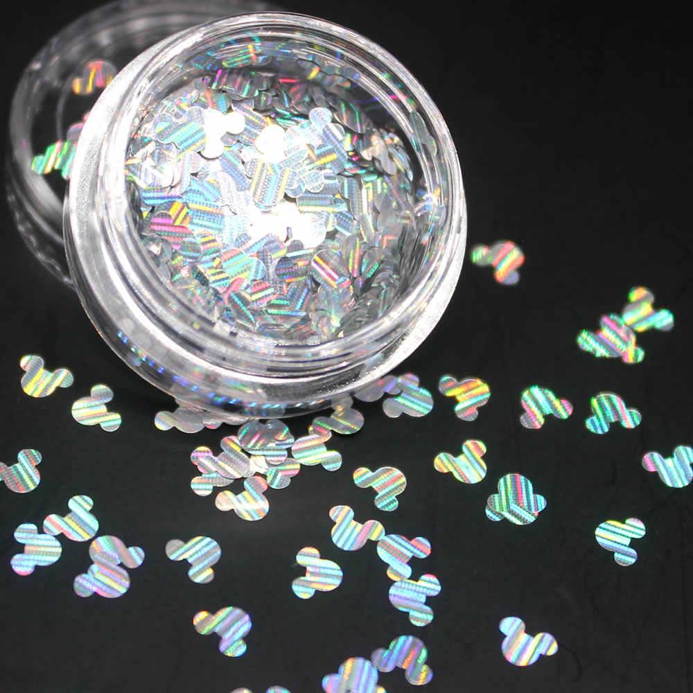 1 sztuk laserowe Cartoon błyszczące okrągłe ultracienkich cekiny Nail Art Glitter porady żel UV 3D ozdoba do paznokci Manicure DIY akcesoria 2017
