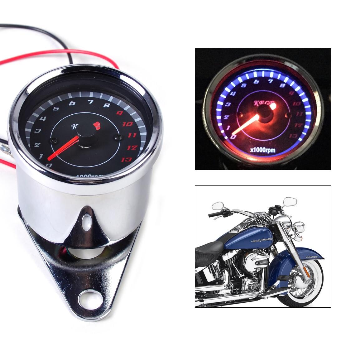 beler 60mm LED 13000 RPM Tachometer fit for Scooter Analog