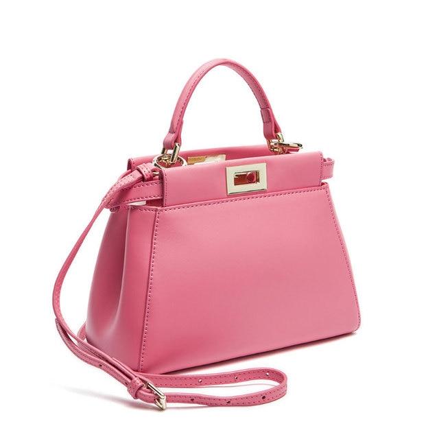 2016 Women Messenger Bags Peekaboo Bag Handbags High Quality Genuine Leather Totes Fashion Shoulder Crossbody Bag Small Tote Bag