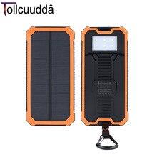 MAH do Carregador Tollcuudda 10000 do Telefone Portátil Bateria Externa Banco Energia Solar Duplo USB Interfaces Básico À Prova D' Água