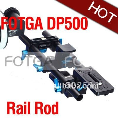 Fotga DP500 DSLR rail rod support System 15mm for follow focus 5D II 7D 600D D7000