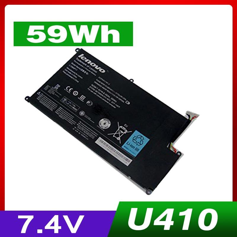 7.4 V 59WH batterie d'ordinateur portable POUR Lenovo IdeaPad U410-IFI U410 L10M4P11 2ICP4/51/161-2 U410