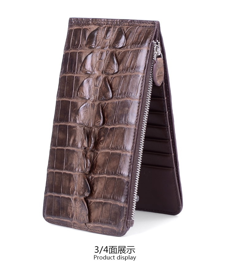 100% genuine alligator skin leather men wallet crocodile leather skin wallets and purse, luxury money clip for business men цены онлайн