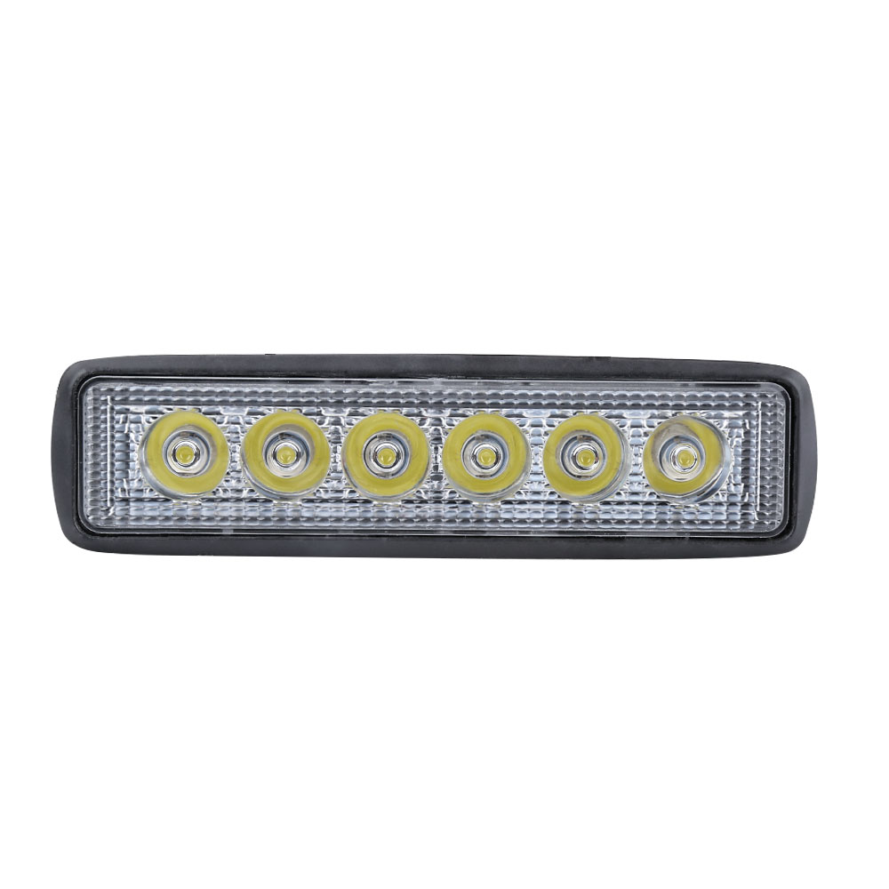 6 Inch 18W LED Work Light Bar For 4WD SUV Driving Boat Led 12V 6000k Auto Led Beams Sport Offroad Fog Lamp Worklight Car-Styling ultrafire t 18l 18w 1080lm 6000k 6 led white light car spotlight roof light engineering lamp