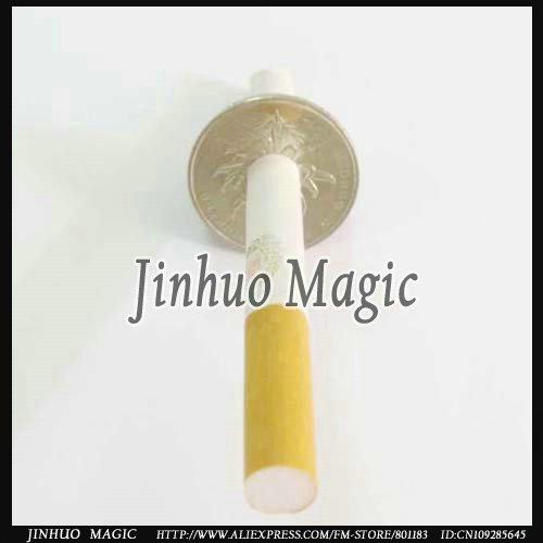 Free shipping Cigarette Thru Coin(Half Dollar) 10pcs/lot for magic show wholesale