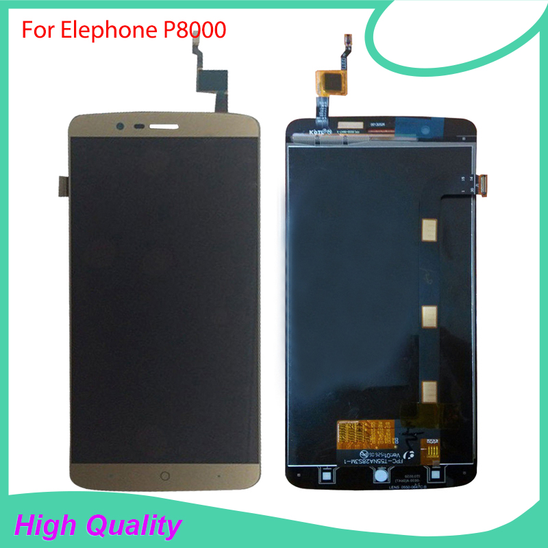 For Elephone P8000 LCD Display Touch Screen 100 Original Digitizer Assembly Replacement Repair Accessories For Cell