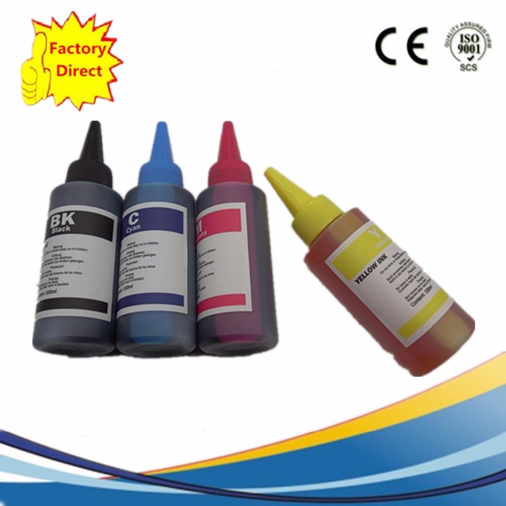 High Quality 4x 100ml Dye Ink Kit T2001 T200XL For Epson XP-100 XP-200 XP-300 XP-400 WF2520 WF2530 WF2540 Printer CISS CartridgeHigh Quality 4x 100ml Dye Ink Kit T2001 T200XL For Epson XP-100 XP-200 XP-300 XP-400 WF2520 WF2530 WF2540 Printer CISS Cartridge