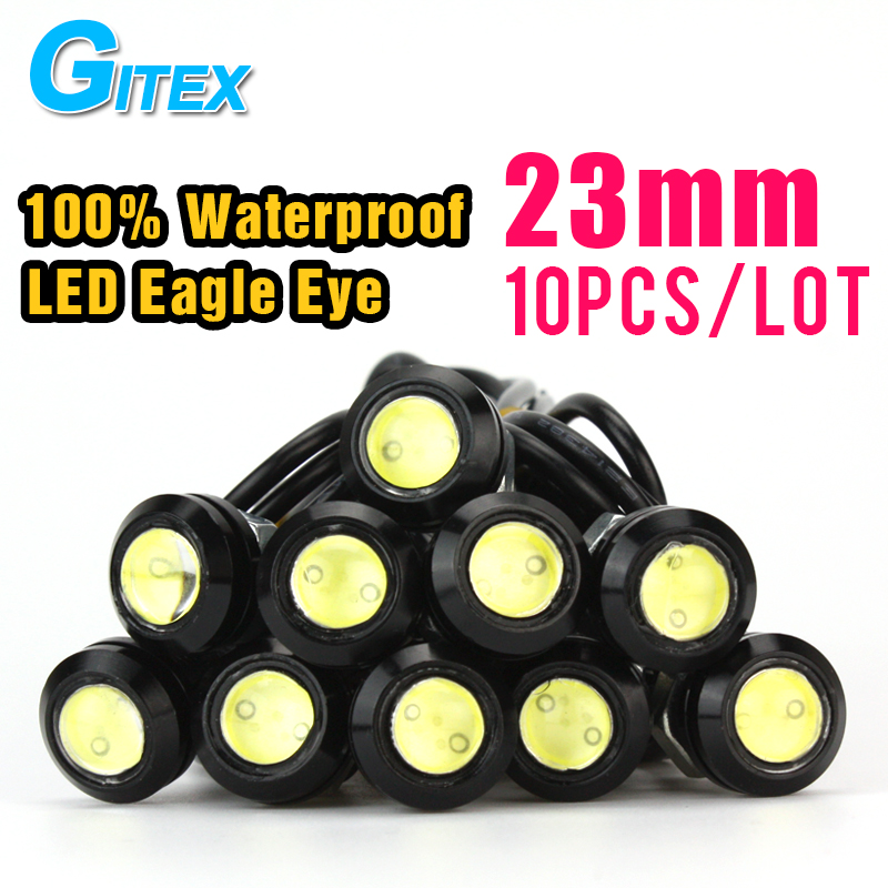 Car Stytling10pcs DC12V 23mm Eagle Eye DRL LED Daytime Running Light work light source Waterproof Fog Parking Light Freeshipping 2015new arrival eagle eye 3 smd led daytime running light 20pcs lot 10w 12v 5730 car light source waterproof parking tail light