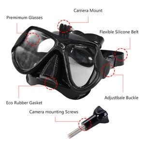 Image 5 - متعدد الألوان قناع الغطس الغوص غص السباحة Googgles خفف نظارات ل GoPro بطل 7 6 5 4 3 شاومي يي 4K SJCAM EKEN H9
