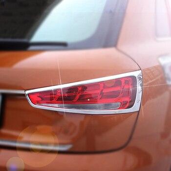 2x Chrome ABS Rear Tail Light Lamp Trim Decoration Frame Cover For Audi Q3 15-17