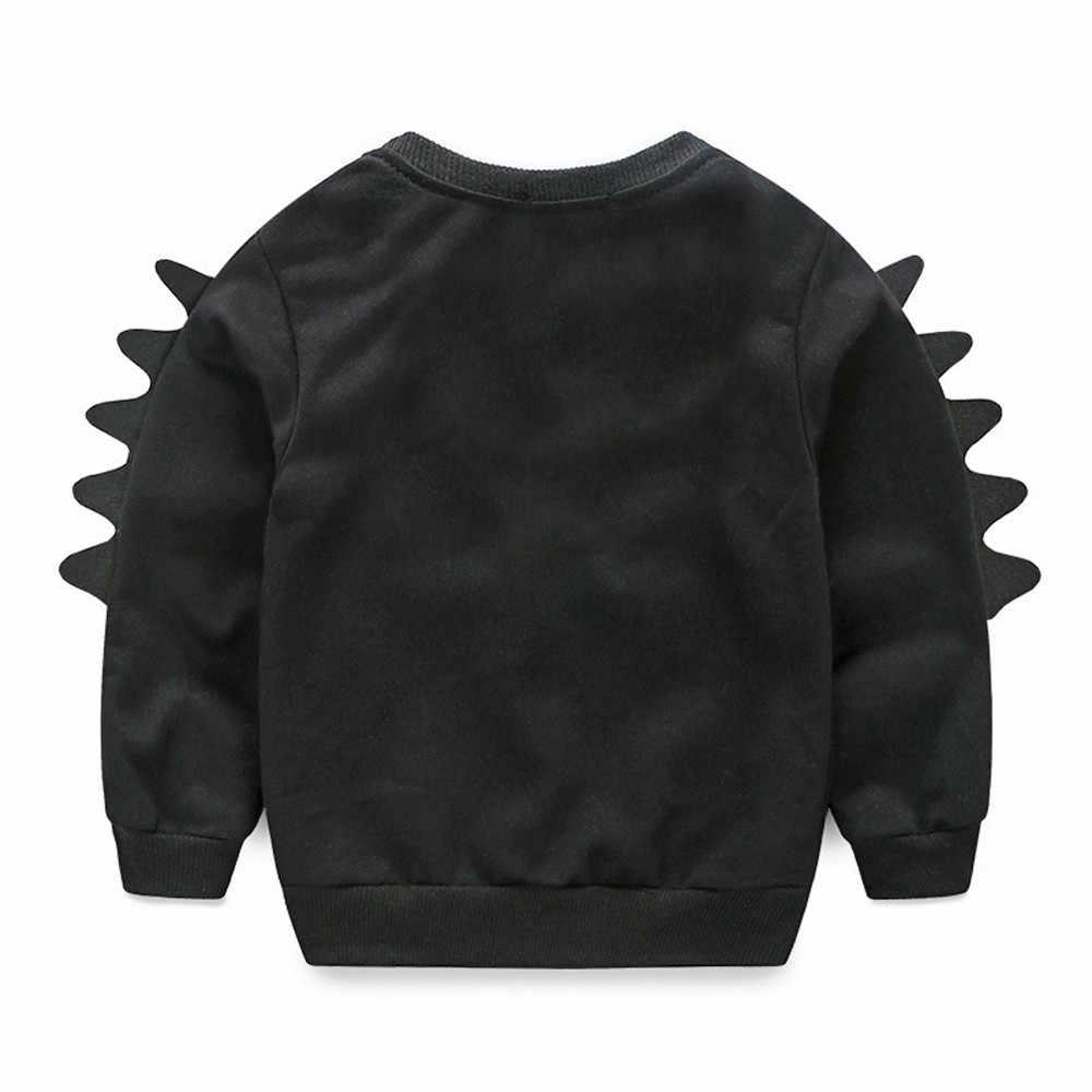 유아 어린이 아기 소년 동물 만화 풀오버 스웨터 탑스 복장 복장 소년 소녀 까마귀 스웨터 소녀를위한