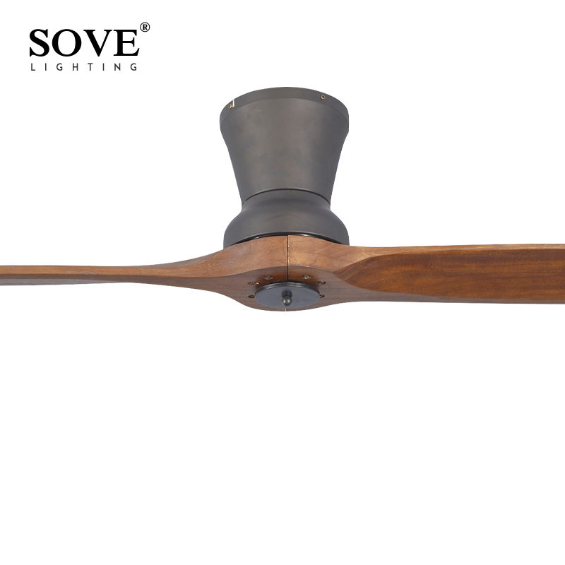 SOVE Black Village Industrial Wooden Ceiling Fan Wood Ceiling Fans Without  Light Decorative Home Fan DC 220V Ventilador De Teto In Ceiling Fans From  Lights ...