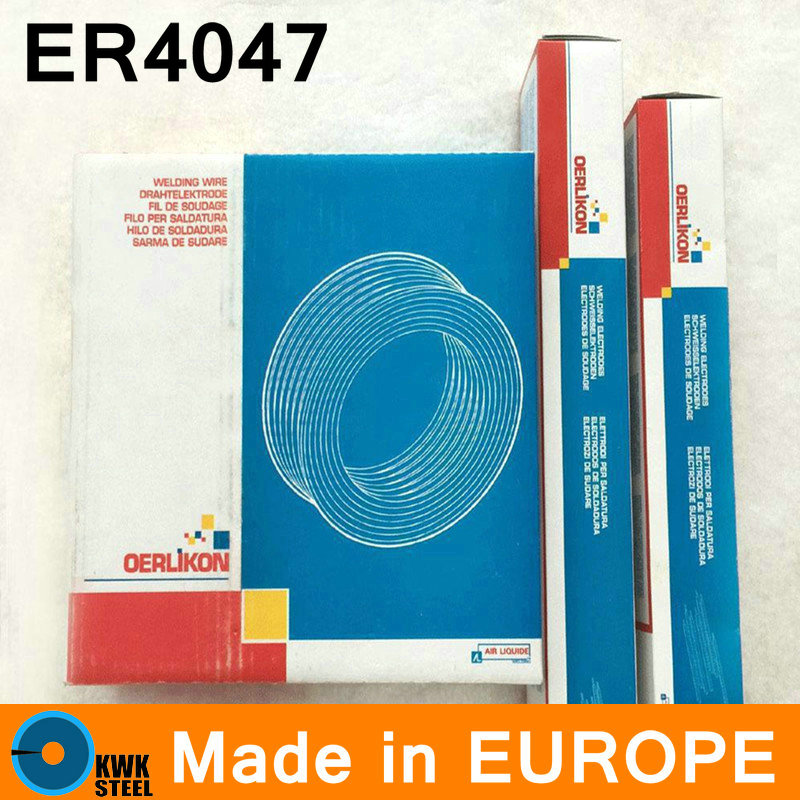 ER4047 OERLIKON Made in Switzerland Europe Aluminum Welding Wire Premium Quality Welding AL Wire 2-5mm Free Shipping 1kg pack gm mould welding wire trader 2344 pairmold welding wire for welders 0 8 1 0 1 2 2 0mm s012001