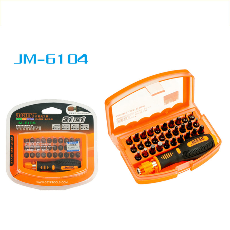 JM-6104 31in1 High-altitude Working Screwdriver Kit Repair Tool for Mobile Phone Computer Electronic Model