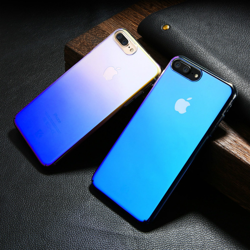 competitive price 4dfc8 5cf4d US $3.79  FLOVEME For iPhone X 8 Plus Case 5 5S SE Gradient Blue Ray Light  Case For Apple iPhone 7 7 Plus 7S 5S 5 Clear Accessories Cover on ...