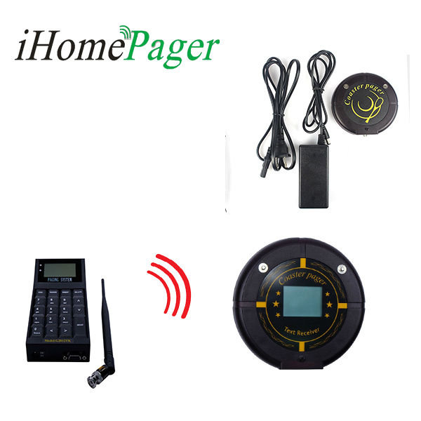 Beeper Vibration Or Flash Restaurant Guest Paging System Link To Pc And Control By Text Display Coaster Pager
