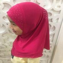 H1388 красивые хиджаб детский исламский хиджаб шарф Мусульманский Хиджаб для девочки шарф
