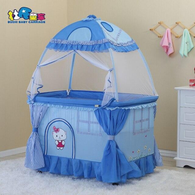 Europa tipo bebé infantil Casa Cuna cuna multifuncional Cunas cama ...