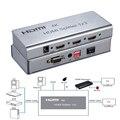 VOXLINK 4 К 2 Порта HDMI Splitter 1X2 1080 P 1 В 2 выход HDMI 1.4 Splitter С ИК Кабели Поддержка EDID HDCP1.4 RS232