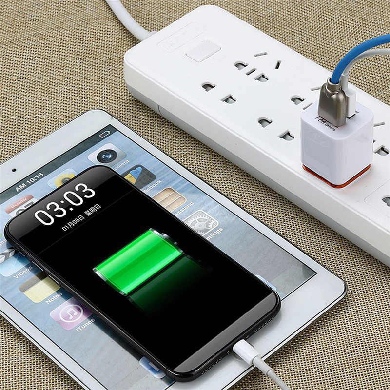 Cargador de teléfono móvil Dual USB 5V2. 1A/1A EU US enchufe adaptador de corriente de pared para Ipad IPhone Samsung HTC teléfonos celulares 2 puertos
