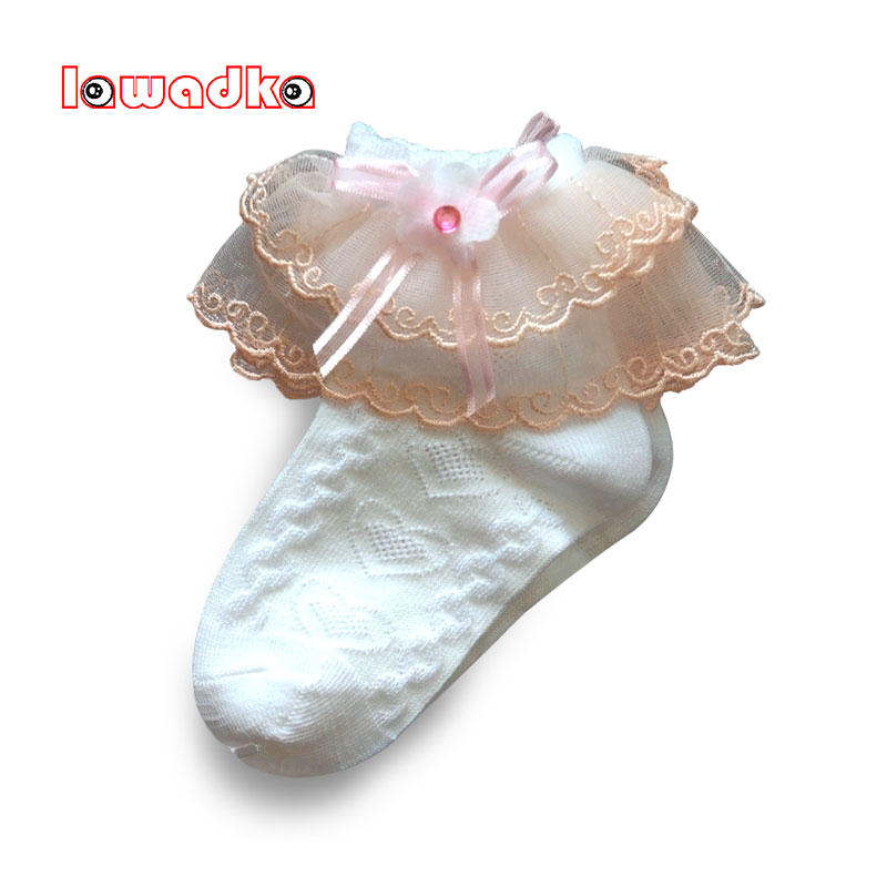 Lawadka Lace Socks Kids White Ruffle Socks For Girls Summer Cotton Children's Socks Baby Clothes For Girls 4 6 8 10 Years Old