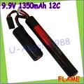 1 шт. 100% первоначально пламя 9.9 В 1350 мАч 12C LiFePO4 Airsoft CQB / R аккумулятор M3E135C