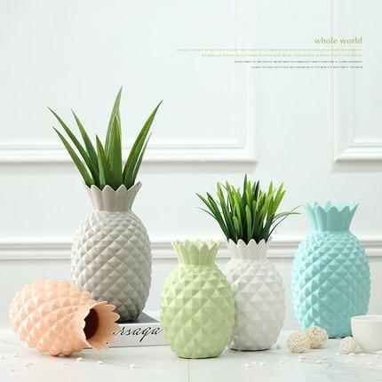 buy new decorative ceramic pineapple flower vases for homes colorful creative. Black Bedroom Furniture Sets. Home Design Ideas