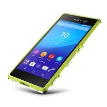 Высокое качество ультра тонкий алюминиевый бампер металла чехол для Sony Xperia M5 aqua E5603