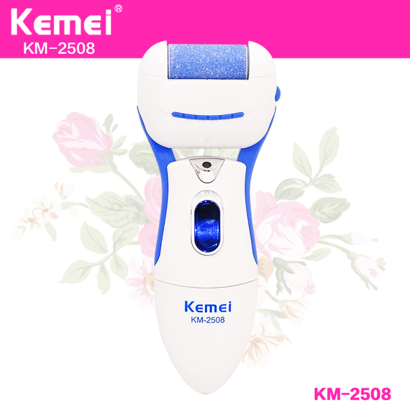 Kemei Electric Exfoliator Pedicure Callus Remover Foot File Pedicure Machine Cuticles Dead Dry Hard Skin Remover Foot Care Tools callus remover foot care tool pedicure machine 4pcs roller electric foot heel cuticles shaver express dead skin removal s4243