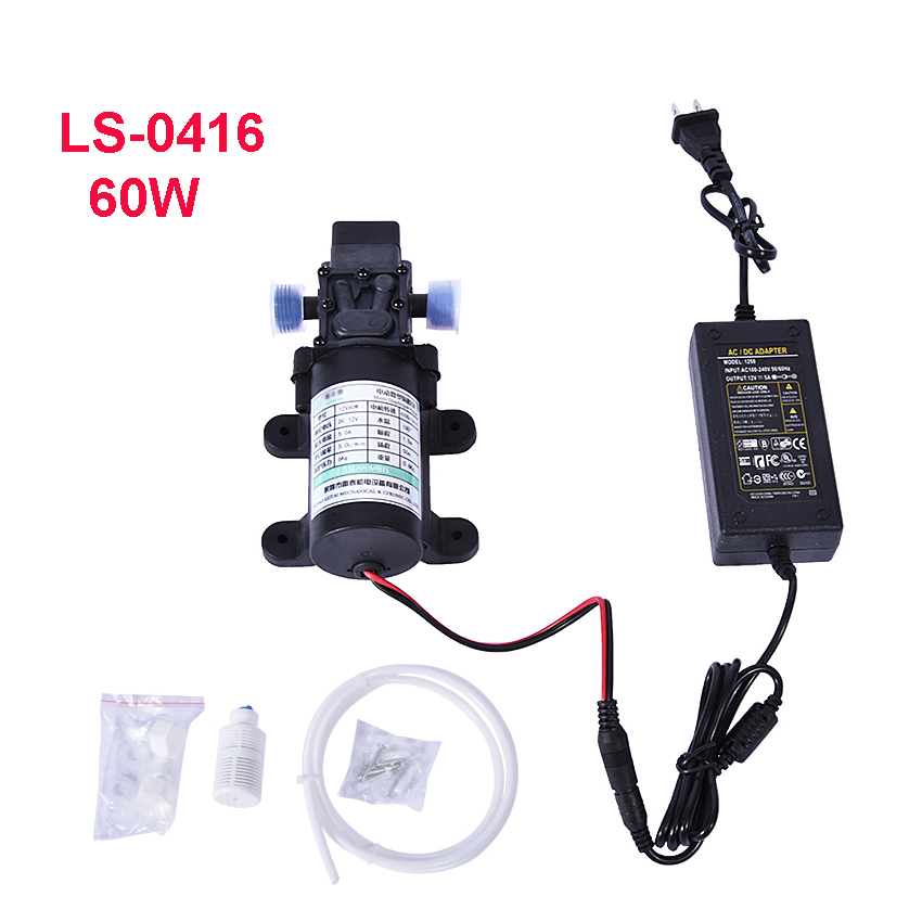 New LS-0416 Electric Diaphragm Pump Small Water Pump Self-Priming Pump Booster Pump Automatic Start And Stop 12V 5.0A 60W 5L/min цена