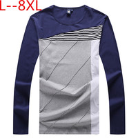 Plus Size 10XL 8XL 6XL 5XL 4XL Autumn Men Long Sleeve T Shirt Cotton High Quality