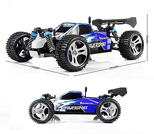 LeadingStar Wltoys A959 Vortex 1/18 2.4G 4WD Electric RC Car Off-Road Independent Suspension Buggy RTR-Blue zk30 hongnor ofna x3e rtr 1 8 scale rc dune buggy cars electric off road w tenshock motor free shipping