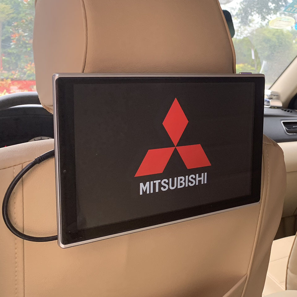 2 pièces 11.8 pouces voiture LCD moniteur Android 7.1 OS appui-tête DVD écran arrière siège système de divertissement pour Mitsubishi Outlander Phev