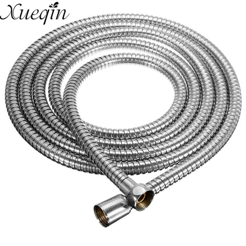 Xueqin Stainless Steel 3Meter Shower Hose Soft Shower Pipe Flexible Bathroom water pipe Silver color common Plumbing HosesXueqin Stainless Steel 3Meter Shower Hose Soft Shower Pipe Flexible Bathroom water pipe Silver color common Plumbing Hoses