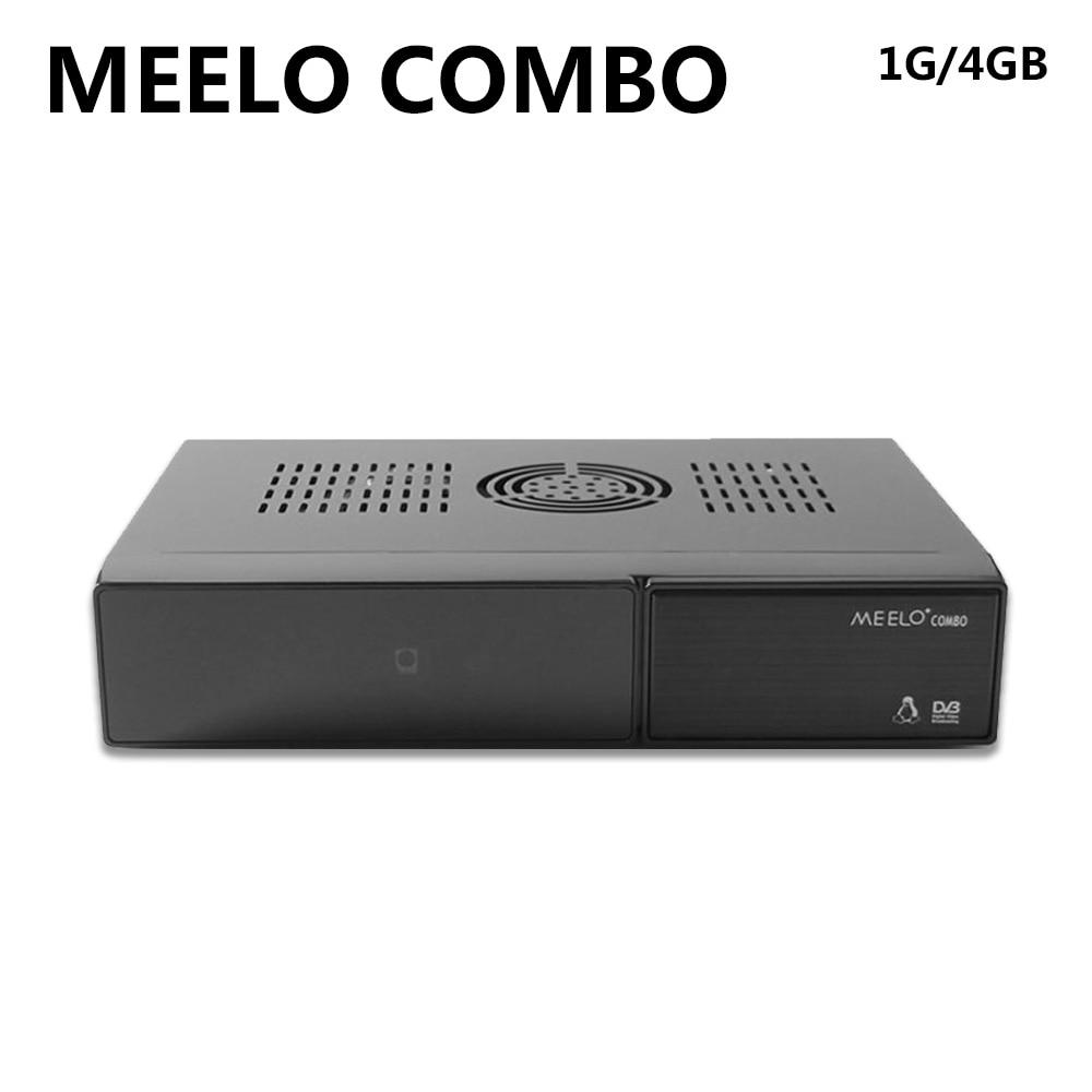 SZ Meelo Combo Satellite Receiver 1200MHz Processor 4GB Serial Flash 1GB DDR3 DVB-S2 DVB-T2/C same function x Solo MiNi3 [genuine] freesat v8 golden dvb s2 t2 c satellite tv combo receiver support powervu biss key cccamd newcamd n usb wifi optional