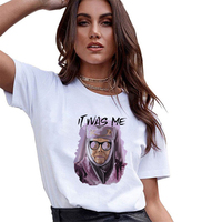 New It Was Me Old Women Print Game of Thrones Graphic T Shirts Polyester Slim Tops Summer 2019 Black Womens Shirts MD15