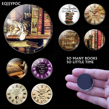 Book Quote Luminous Glass Dome 30mm Fridge Magnets So Many Books So Little Time Magnetic Decoration Refrigerator Stickers Decor 2 pcs dough cutter roller needle wheels lattice embossing pie pizza bakeware plastic kitchen utensil baking tools cookie