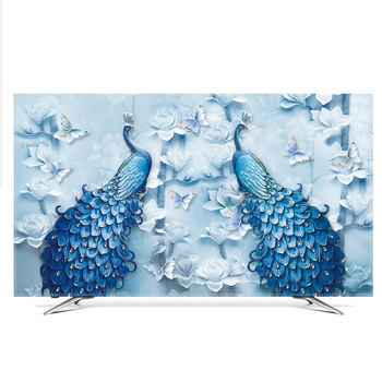 TV Cover Dust Cover LCD Computer Monitor Protector for Wall Hanging Desktop Curved Type Screen Soft Fabric Craft fc127