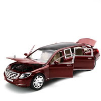 1:24:32 Sound Light Alloy Maybach S600 Vehicle Pull Back Car Model 6 door high simulation Toys For Boys Children Gift