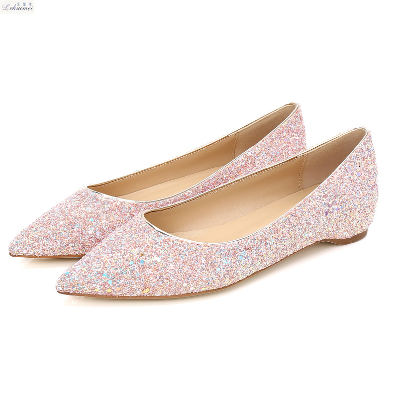 New 2018 Fashion women flats shoes Sexy Pointed toe Lady low heels shoes woman flats spring party wedding lady flats cresfimix women cute spring summer slip on flat shoes with pearl female casual street flats lady fashion pointed toe shoes