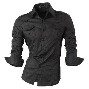 Image 1 - กางเกงยีนส์ฤดูใบไม้ผลิฤดูใบไม้ร่วงคุณสมบัติเสื้อผู้ชายกางเกงไม่เป็นทางการเสื้อใหม่มาถึงเสื้อแขนยาวสบายๆ SLIM FIT ชายเสื้อ 8001