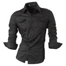 Jeansian Frühling Herbst Eigenschaften Shirts Männer Casual Jeans Hemd Neue Ankunft Langarm Casual Slim Fit Männlichen Shirts 8001