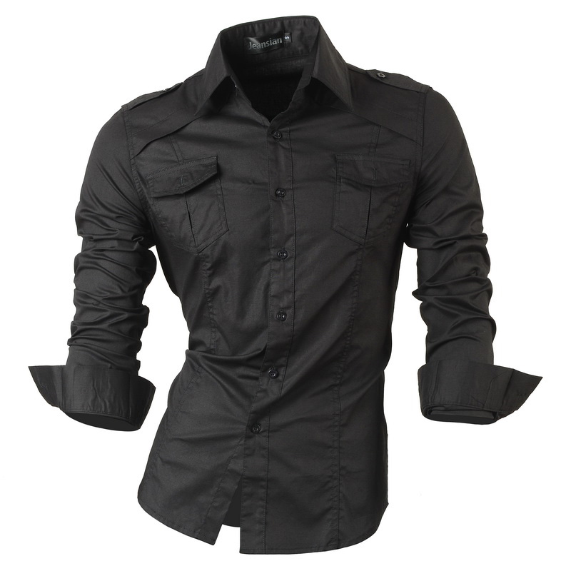 jeansian Spring Autumn Features Shirts Men Casual Jeans Shirt New Arrival Long Sleeve Casual Slim Fit Male Shirts 8001